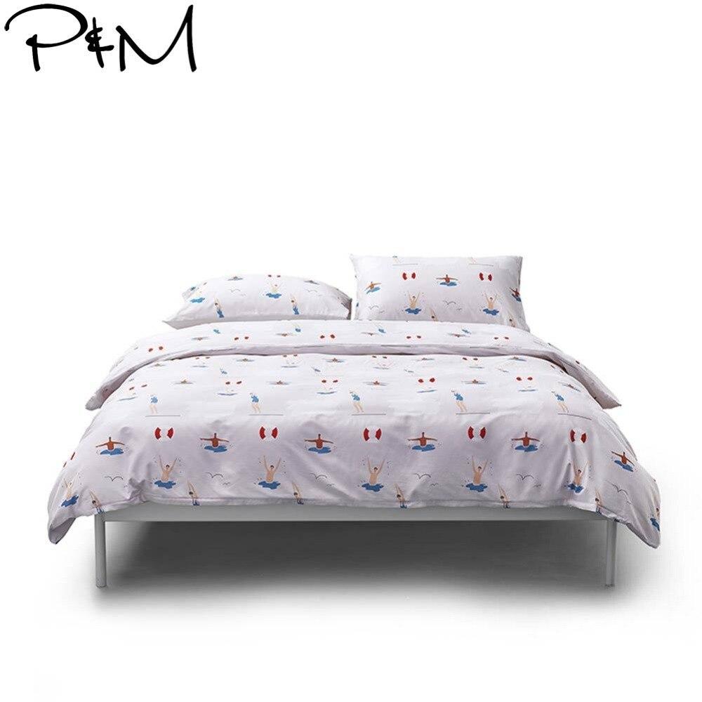 Power Source 2019 Papa&mima Summer Swimming Pool Bedlinens Duvet Cover 3/4 Pcs Twin Queen King Bedsheet Soft Cotton Bedding Set Pillowcases Bedding