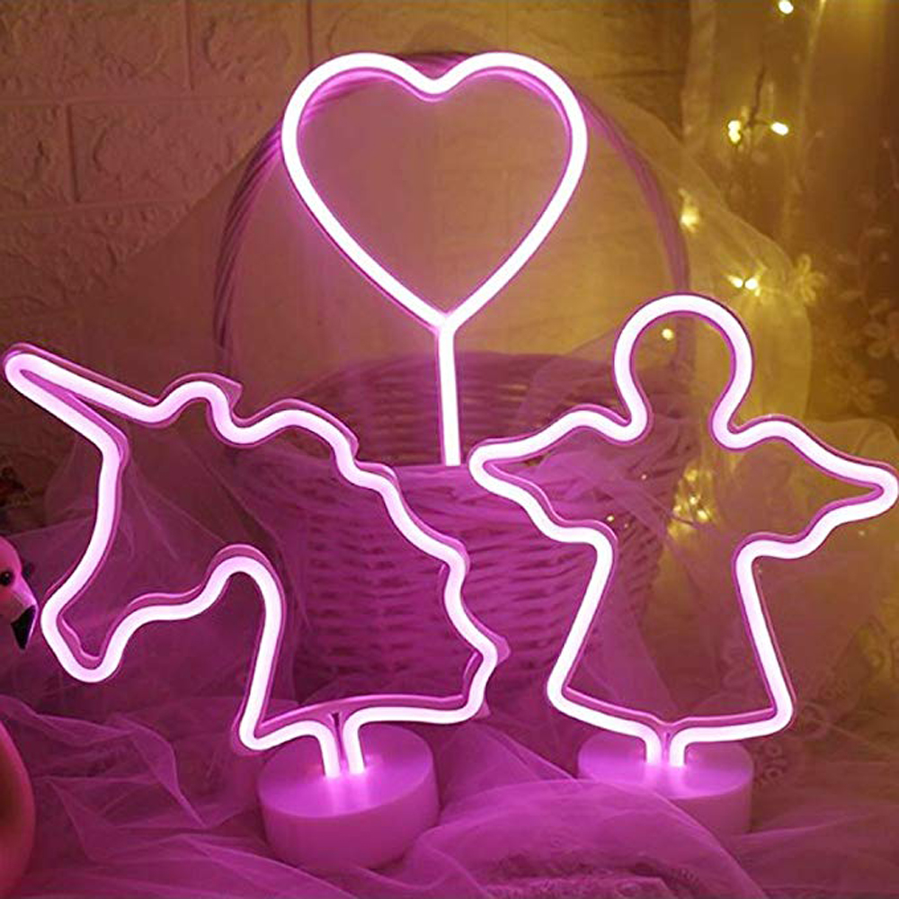 Decorative Shaped Neon Night With Operated By Battery For Children's Room Party Christmas Wedding Decoration
