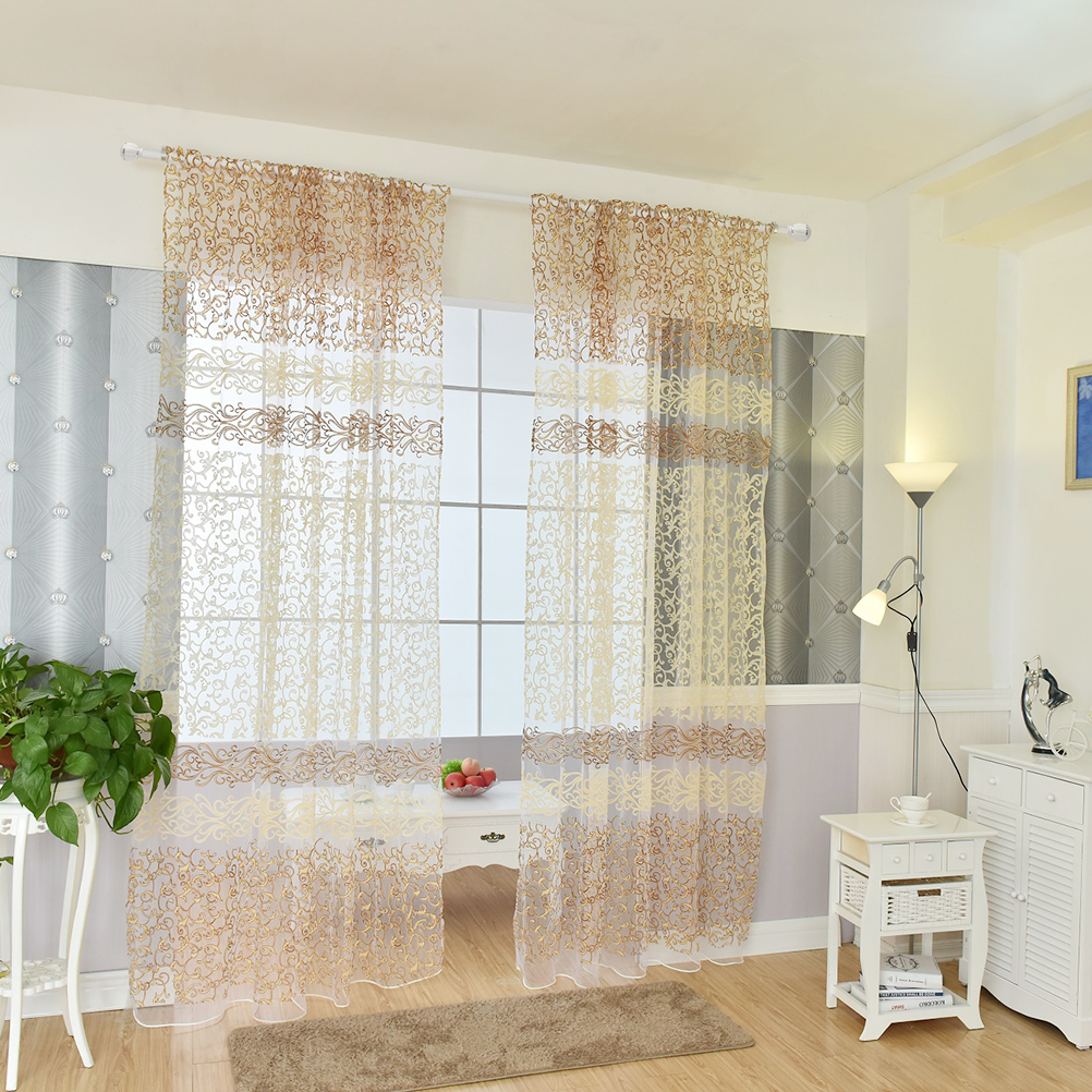 Light yellow curtains - Tulle Curtain For Living Room Bedroom Light Yellow Voile Curtains Fabric Drapes For The Windows