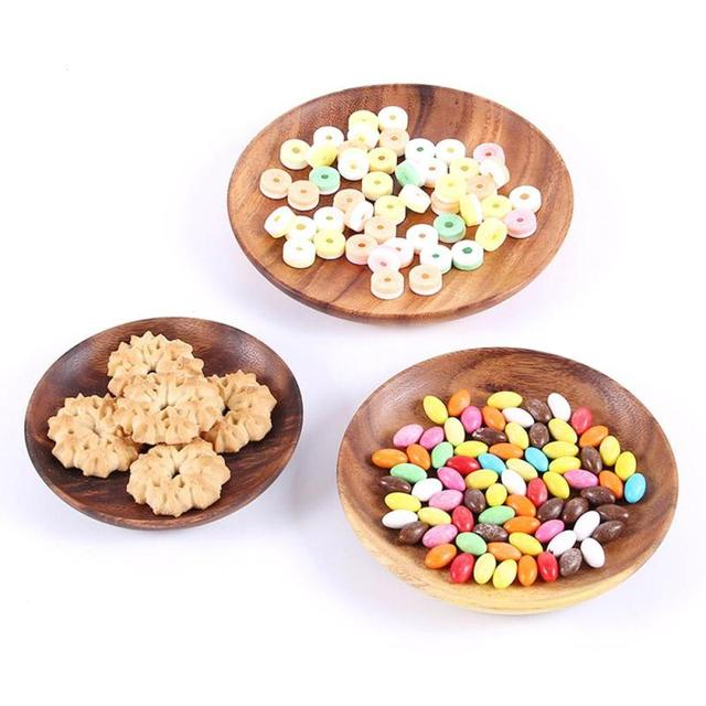 Eco-Friendly Natural Wood Dinner Plate