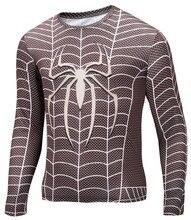 Мода печать о-образным вырезом с длинным рукавом стиль рубашки капитан америка супермен звездные войны животных 3d Tshirt лайкра супергерой