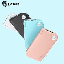 Baseus 8000 мАч dual usb power bank портативный внешний зарядное устройство для iphone samsung powerbank с 2 в 1 кабель