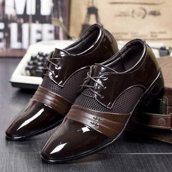 Men Dress Shoes Cheap Leather Wedding Shoes Pointed Toe Men Oxford Breathable Business Formal Shoes Plus Size 48 Chaussure Homme