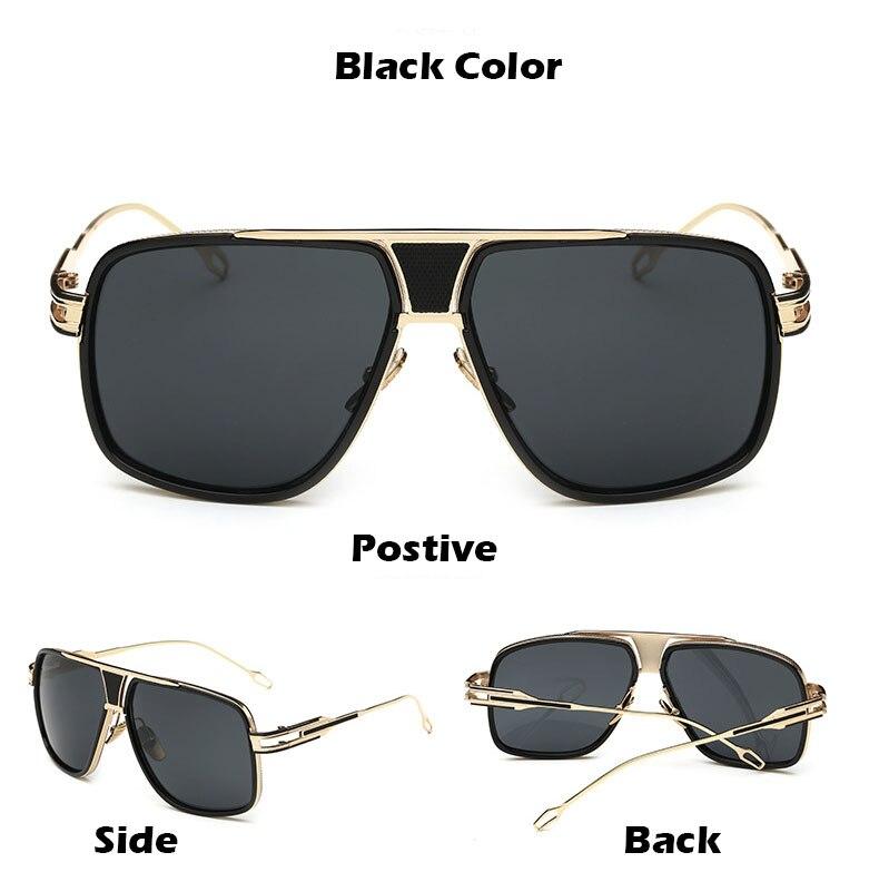 Classic Metal Sliver Color Sunglasses Men Square Fashion Driving Glasses for Women Retro Sun Glasses Vintage Gafas Oculos