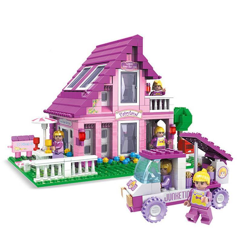 576pcs City Girl Friends Warmth Castle Building Blocks Assembly Princess Dream House Bricks Toys Gift 10162 friends city park cafe building blocks bricks toys girl game toys for children house gift compatible with lego gift
