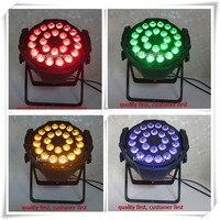 (16/lot) מכירה חמה אור led 24x18 w rgbaw uv 6in1 סין led נקוב פחיות לשטוף led אורות par dmx