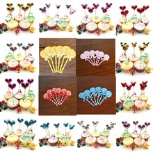 5Pcs/lot Handmade Lovely Cupcake Toppers Cake Party Supplies Birthday Wedding Decoration Baby Shower Favor