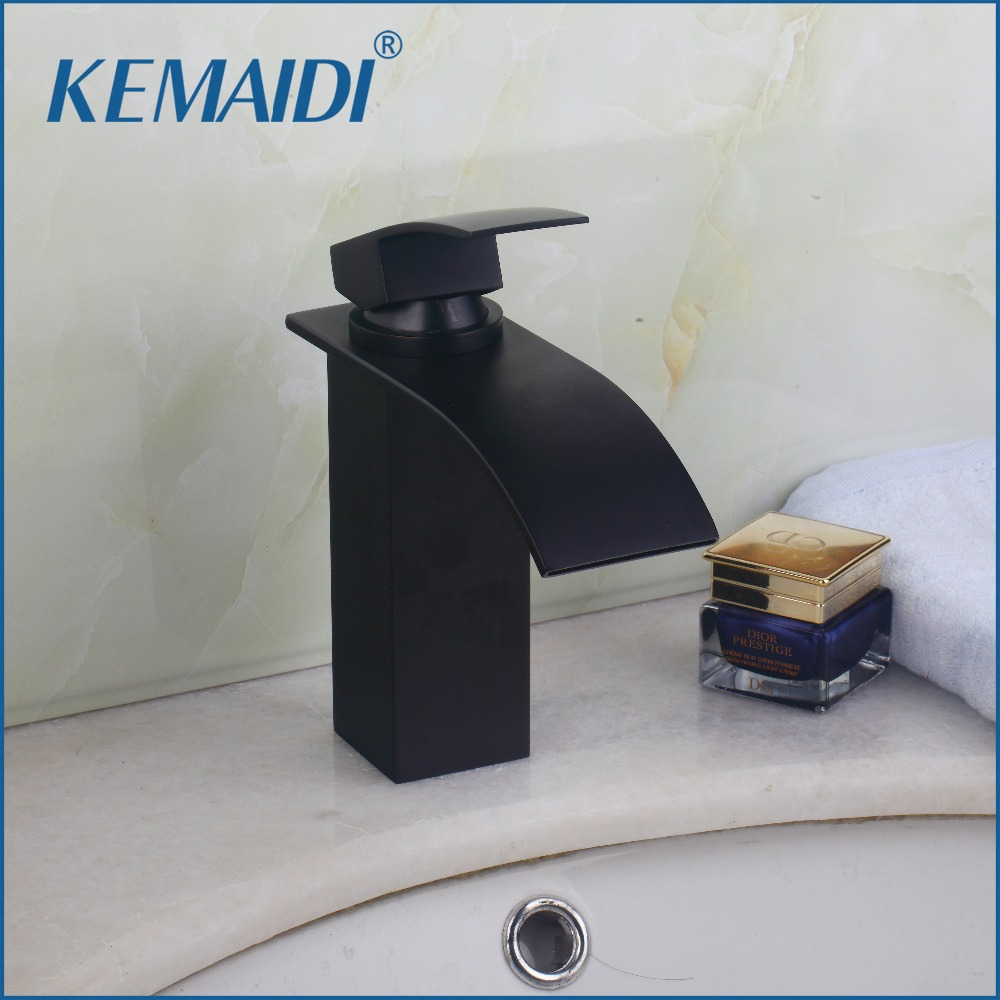 KEMAIDI Bathroom Mixer Black Oil Rubbed Bronze Basin Faucet Cold and Hot Bathrom Faucet Torneira Banheiro  Deck Mounted new arrival matte black or oil rubbed bronze or chrome tap basin cold and hot fashion square single hole bathroom faucet