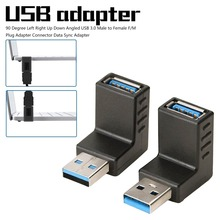 90 Degree  Micro Usb Cable Left Right Up Down Angled USB 3.0 Male to Female F/M Plug Adapter Connector Data Sync Adapter metal keyboard up down left right com data usb power supply ylgf hs87 s16 waterproof ip65 dust anti violence