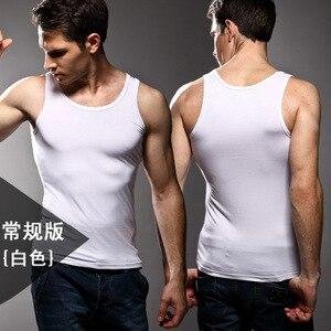 Image 4 - ¡Alta calidad! Ropa interior de color sólido para hombre, Chaleco Ajustado, licra, alta elasticidad, hombros anchos, ropa interior