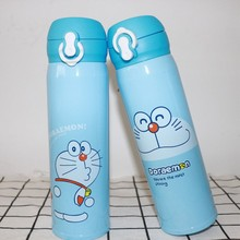 цены 500ML Lovely Cartoon Doraemon Mood Expression Vaccum Hot Flask thermos bottle coffee Child termos water bottle