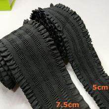HL 5cm/7.5cm iki boy 1 metre siyah dantel elastik bel kemeri bantları konfeksiyon DIY aksesuarları jakarlı kemer e001