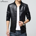 2017 New Arrival Leather Jackets Men's jacket Male Outwear Men's Coats Spring & Autumn PU Jacket De Couro Coat Plus Size M-4XL