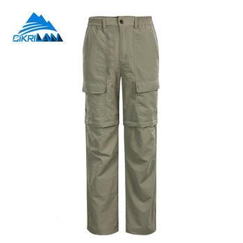 Męskie spodnie outdoorowe Quick Dry Sunscreen spodnie do wędrówek pieszych letnie oddychające spodnie kempingowe odpinane spodenki trekkingowe spodnie wędkarskie tanie i dobre opinie Pełnej długości Camping i piesze wycieczki NYLON Zipper fly Moc suche CKLQ003 Pasuje mniejszy niż zwykle proszę sprawdzić ten sklep jest dobór informacji