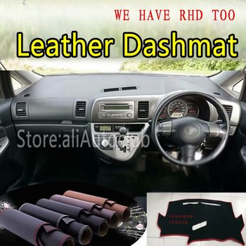 For Toyota Wish AE10 2003-2009 2004 2005 2006 Leather Dashmat Dashboard Cover Dash SunShade Carpet Custom Car Styling LHD+RHD