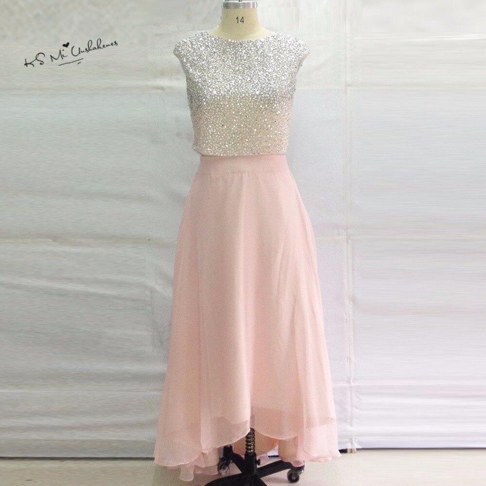Designer luxe 2 pièces robes de bal 2017 perlé importé haute basse Robe de soirée pour l'obtention du diplôme Vestidos de Gala Robe de soirée