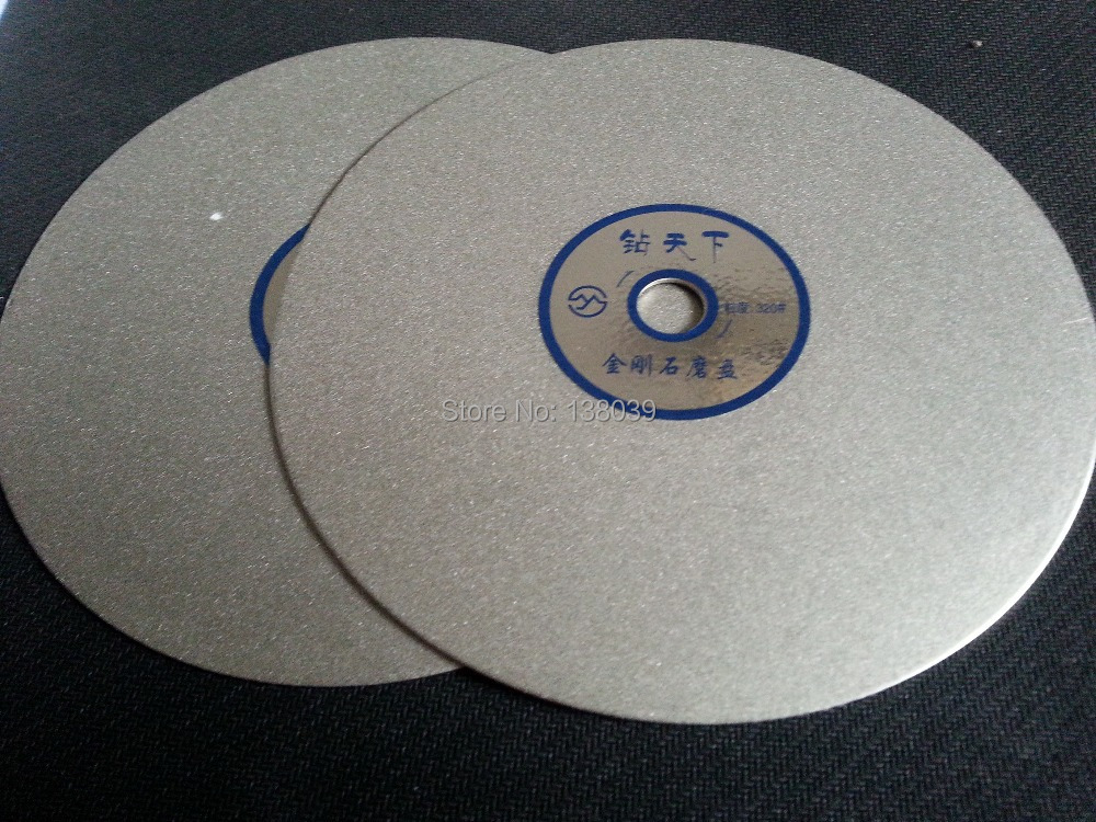 6 Inch Diamond Flat Polishing Lap Discs For Lapidary , Polishing Tools Grit #320