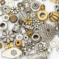 Wholesale Mixed Tibet Silver Beads  Antique Alloy Beads For Jewelry making 40g (About 70pcs)