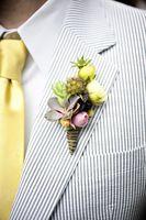 2018 New tailored seersucker Black strips custom made suits groommens suits mens wedding suits for men(jacket +pants+bowtie)