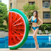 180cm Inflatable Half Watermelon Floats Swimming Pool Float Beach Water Fun Toy Blowup Fruit Floatie Air Mattress Lounger