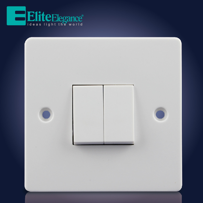 HOT SALE 2 Gang 1 way Switch ,Bakelite Electrical Wall Switch, Elite ...