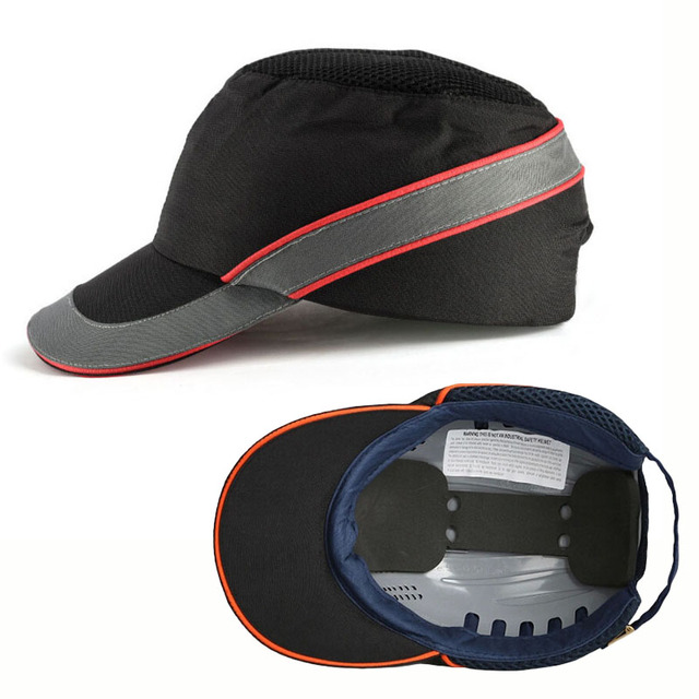 Bump Cap casco de seguridad para el trabajo, cascos ligeros, antigolpes, de seguridad, transpirables, a la moda, con pantalla solar, informal
