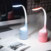 EASEHOLD 160ML LED Desk Lamp Humidifier USB Charging Silent Home Air Purifier 3 Grade Dimmable Reading