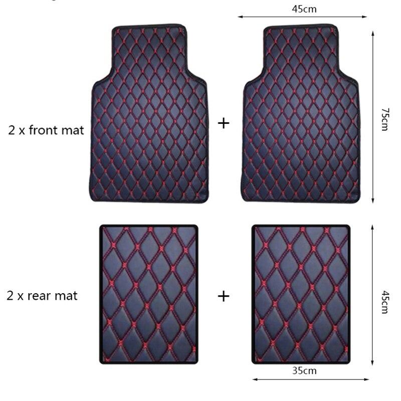 Wenbinge tapis de sol de voiture Pour bmw f10 x5 e70 e53 x4 f11 x3 e83 x1 f48 e90 x6 e71 f34 e70 e30 étanche accessoires de voiture tapis - 2