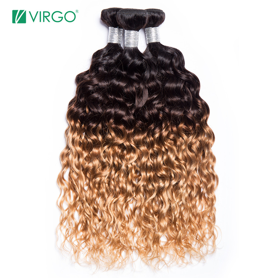 ombre brazilian water wave hair