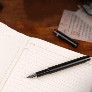Image 5 - أقلام حبر سوداء كلاسيكية EF بنك الاستثمار القومي السلس الكتابة المعدنية الأعمال مكتب أقلام مع صندوق هدية الأصلي اللوازم المدرسية