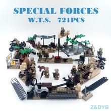 721PZ / partii sõjalise stseeni seeria sõduri armee SWAT politsei relv Tegevusnäitajad Model Building Block Brick Best Children Gift