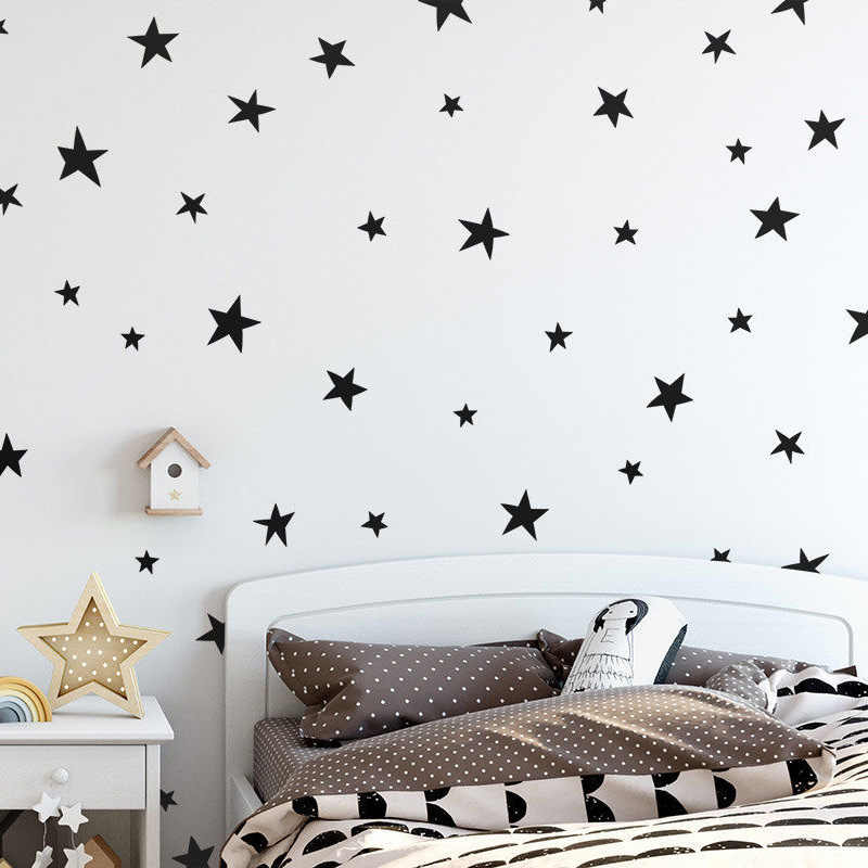 Baby Nursery Bedroom Stars Wall Sticker For Kids Room Home Decoration Cartoon Starry Wall Decals Art Kids Wall Stickers Mural