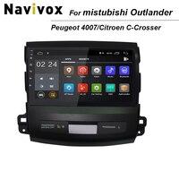 9'' Android Car DVD for Mitsubishi Outlander 2006 2012/Peugeot 4007/Citroen C Crosser Radio Navigation Car multimedia player