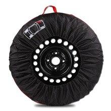 Запасная крышка для шин, чехол для гаражных шин из полиэстера с ручным ремешком, зимние летние автошины сумка для хранения в автомобиле аксессуары для шин Wh
