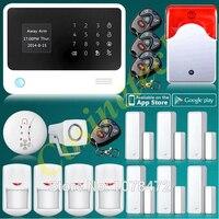 Классический хороший gprs wifi GSM домашняя охранная сигнализация G90B плюс Сигнализация комплект PIR детектор двери Дым пожарный датчик стробоско