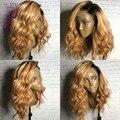 1b Темные корни светлые волосы дешевые ombre человеческих волос парик 1b/27 Бразильские кружева перед парики/glueless полные парики шнурка для черный женщины