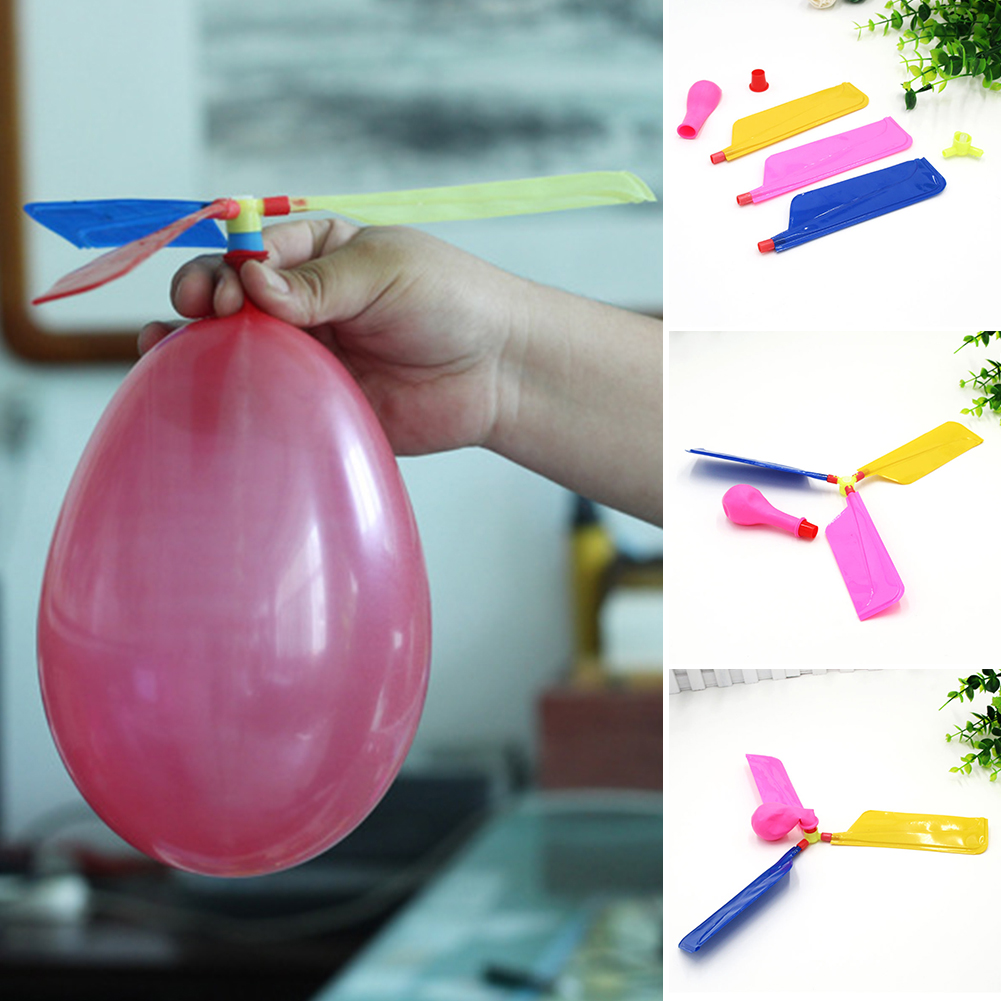 5PCS Helicopter Propeller Balloon Classic Balloon Kids Party Bag Filler Aircraft Flying Toy Child Event & Party Supplies