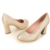 Mujeres Weeding Oro Zapatos de tacón Alto 3 cm Nueva Moda Tacones Altos Zapatos de Fiesta Las Bombas para las mujeres