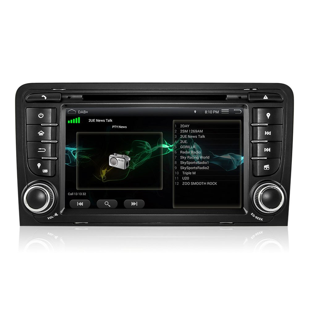 Audi Car Radio Player DVD Player MP5 Android 5.1 Quad-Core Bluetooth WiFi GPS 7inch TFT Screen 2 Din Car Video Player Free Map