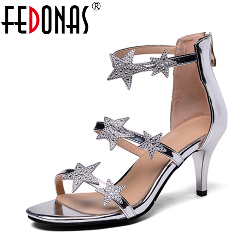 FEDONAS New Sexy Crystal Gladiator Sandals 2018 New Fashion Bling Sexy High Heels Platform Wedding Party Shoes Woman Sandals е л маслова менеджмент учебник