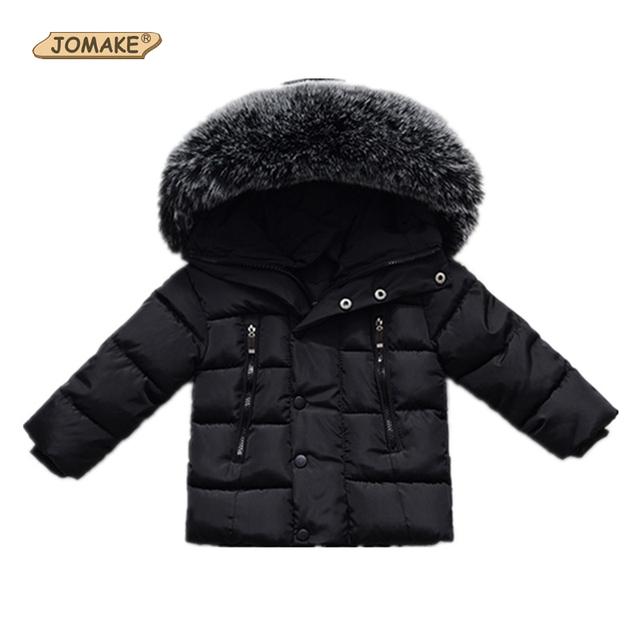 Casacos de inverno Para Meninos Meninas Crianças Casaco Quente Roupas Snowsuit Crianças Outerwear Parkas Jaqueta Com Capuz de Pele de Bebê Roupas Infantis