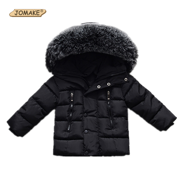 Winter Jackets For Girls Boys Warm Coat Kids Clothes Snowsuit Outerwear Children Clothing Baby Fur Hooded Jacket Infant Parkas