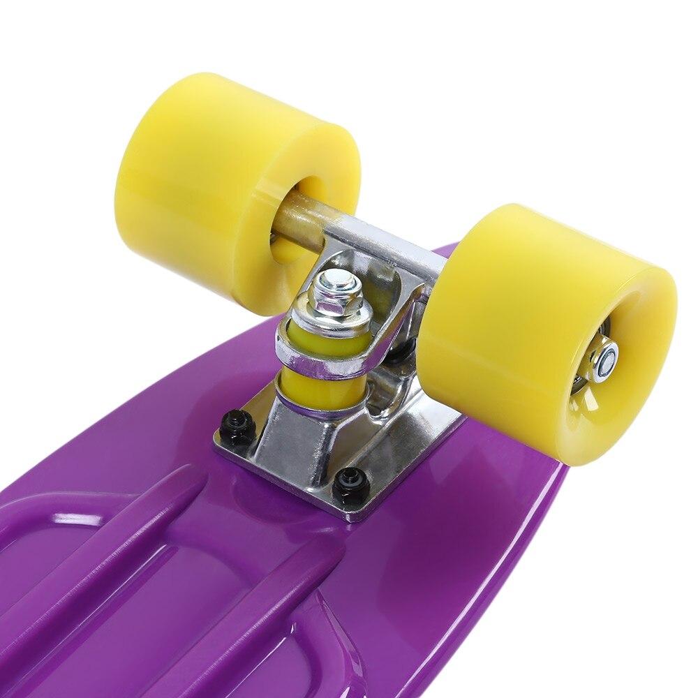 5 couleurs 22 pouces longue planche à roulettes Mini Cruiser planche à roulettes quatre roues rue Freestyle Cool poisson banane longue planche - 6