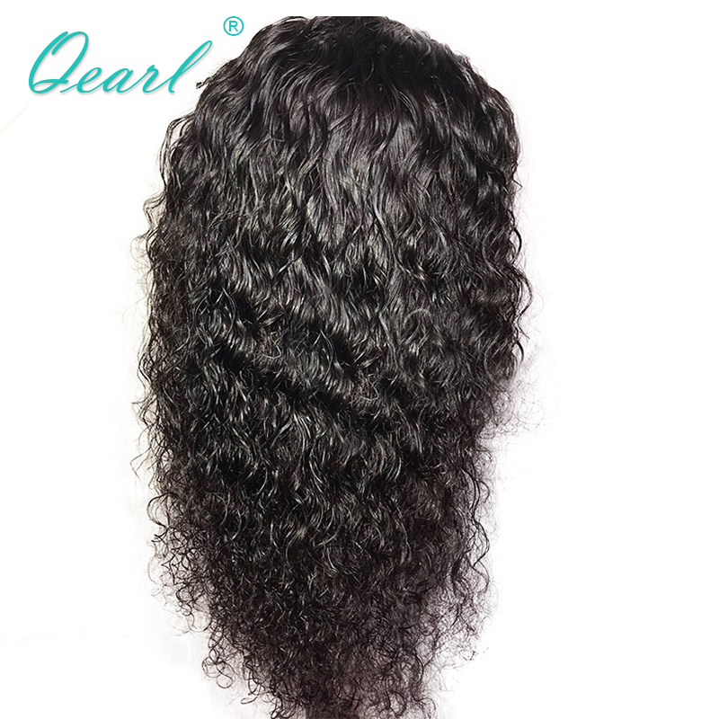 360 Lace Frontal Wig Human Hair Wigs With Baby Hair Curly 150% Density Pre Plucked Brazilian Remy Hair Wig Qearl Hair