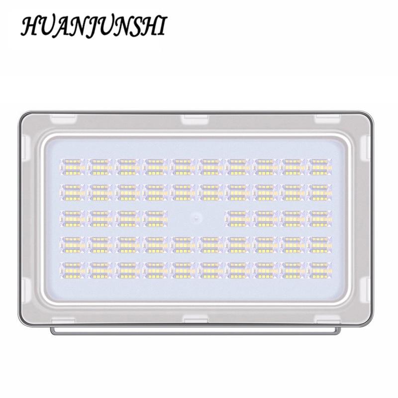 Ultrathin एलईडी फ्लडलाइट 220V 240V एलईडी फ्लड लाइट 150W 18000LM परावर्तक एलईडी रोशनी आउटडोर प्रकाश निविड़ अंधकार IP65 10PCS