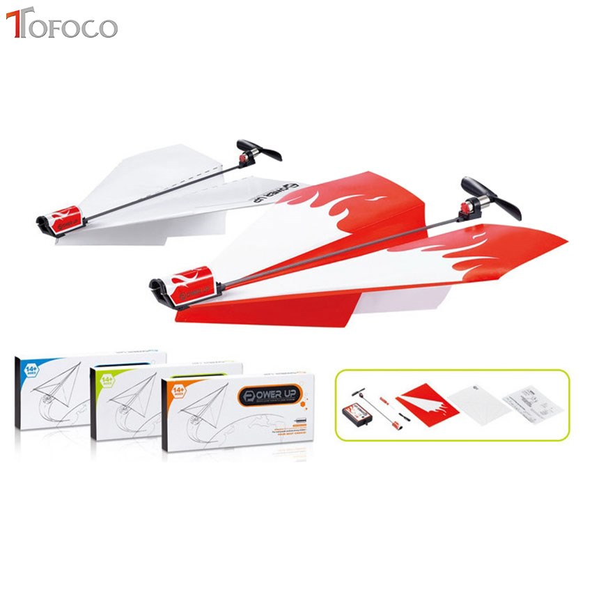 TOFOCO Power-Up Electric Paper Plane Airplane Conversion Kit Fashion Educational Toy For Children Kids Toys Brain Tease