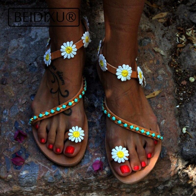 2561dce23feb Detail Feedback Questions about BEIDIXU PENG Bohemian Sandals Flats ...