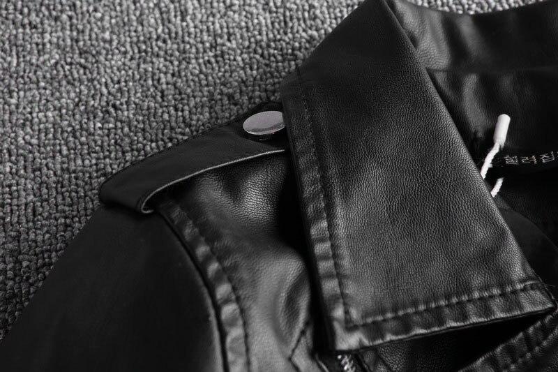 Cuello Mujer Espesor Sólido Estándar Corta Manga De Chaqueta Con Bolsillos Delgado Cremallera Encaje Pu Black qzw457O