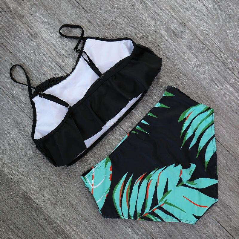 HTB12bPRX4z1gK0jSZSgq6yvwpXaB 2018 Bikinis Women Swimwear High Waist Swimsuit Halter Sexy Bikini Set Retro Bathing Suits Plus Size Swimwear XXL