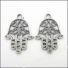 140pcs Vintage Charms Hand Pendant Tibetan silver Zinc Alloy Fit Bracelet Necklace DIY Metal Jewelry Findings